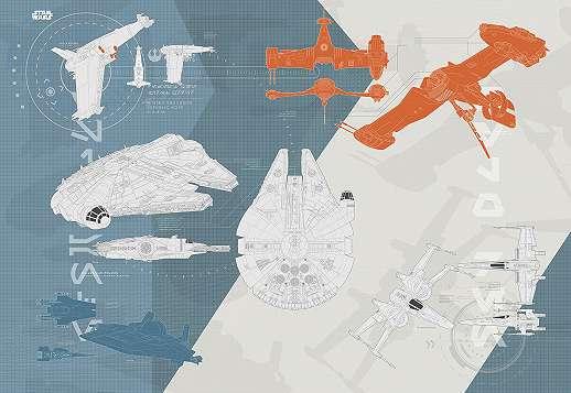 Star wars harci gép tervrajzok fali poszter