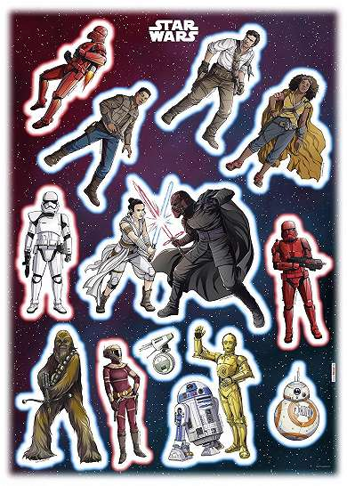 Star Wars hősök falmatrica