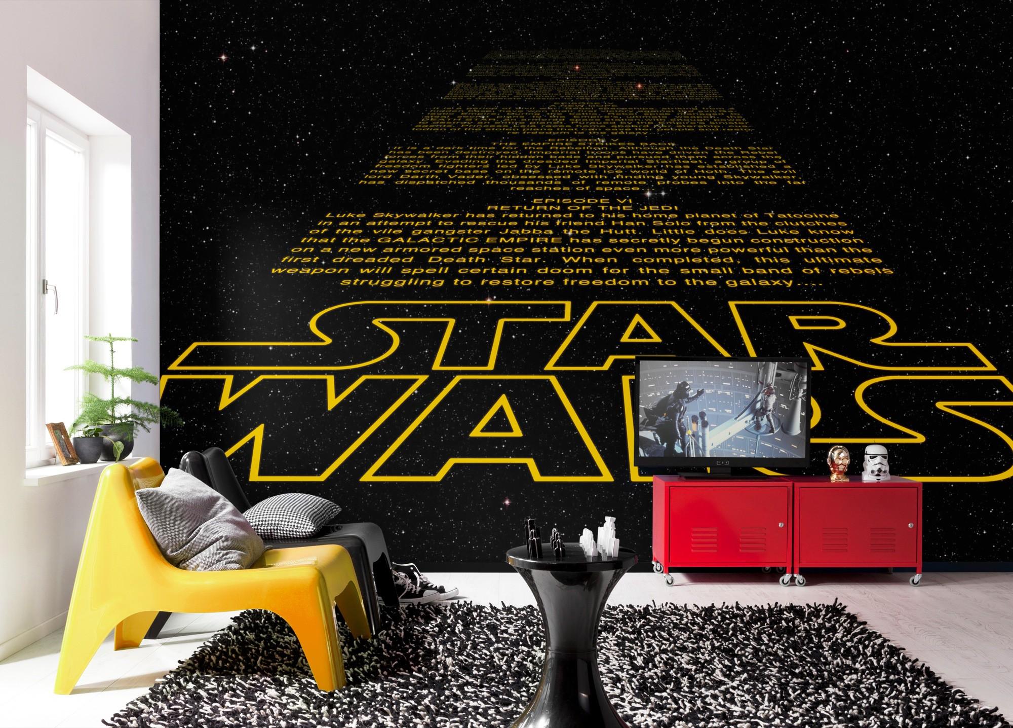 Star Wars intro fali poszter