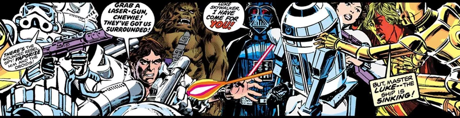 Star Wars képregény mintás bordűr gyerekszobába