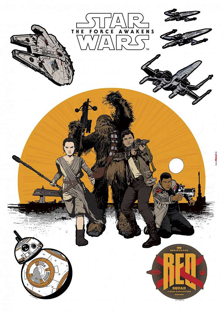 Star Wars lázadók faltetoválás