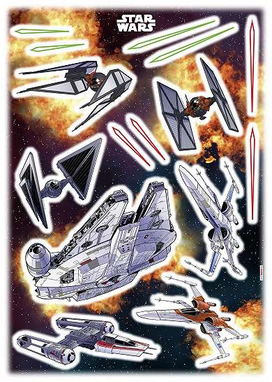 Star Wars űrhajók falmatrica