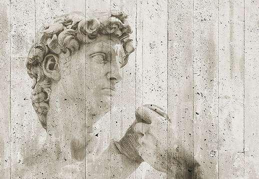 Streetart fali poszter Dávid szobor