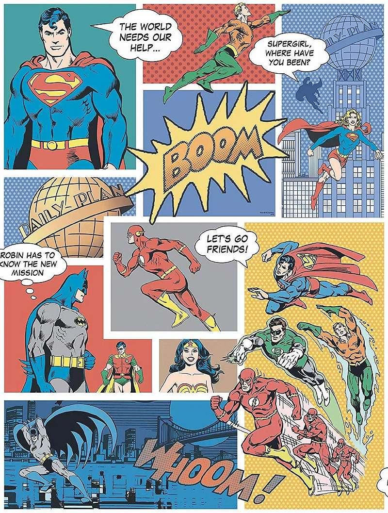 Superman, Batman képregény mintás gyerektapéta