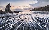 Sziklák és hullámok fali poszter