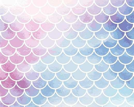 Színes akvarell hatású geometrikus mintás vlies fali poszter
