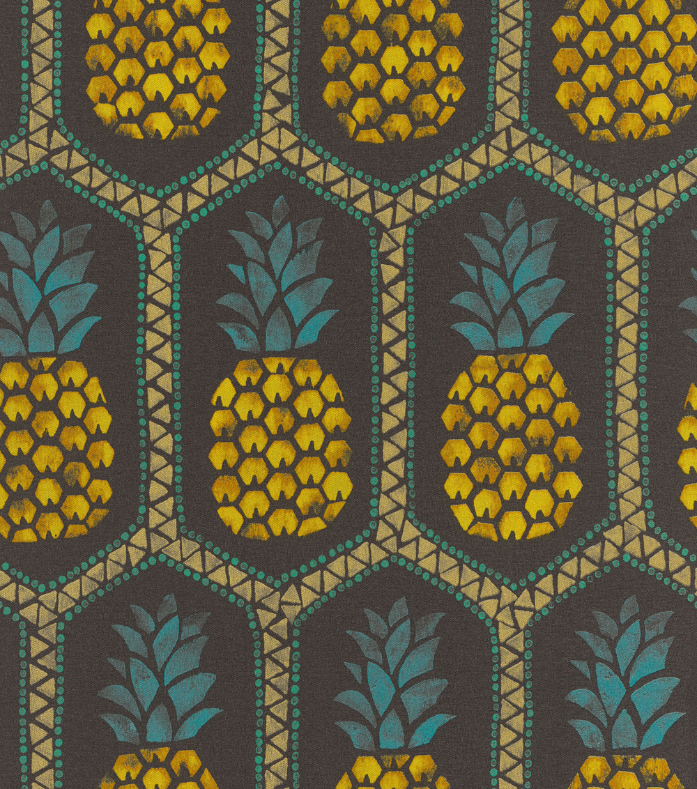 Színes ananász mintás tapéta
