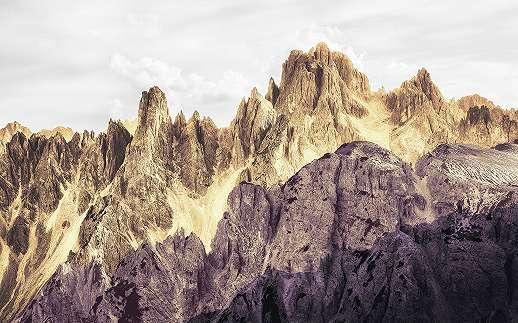 Színes hegyvonulat mintás fali poszter