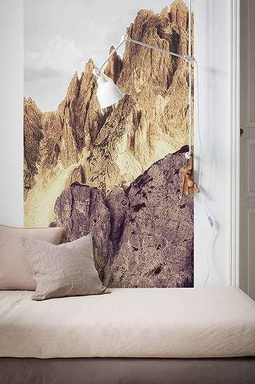Színes hegyvonulatok fali poszter