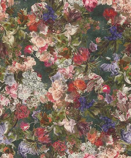 Színes modern virág mintás tapéta