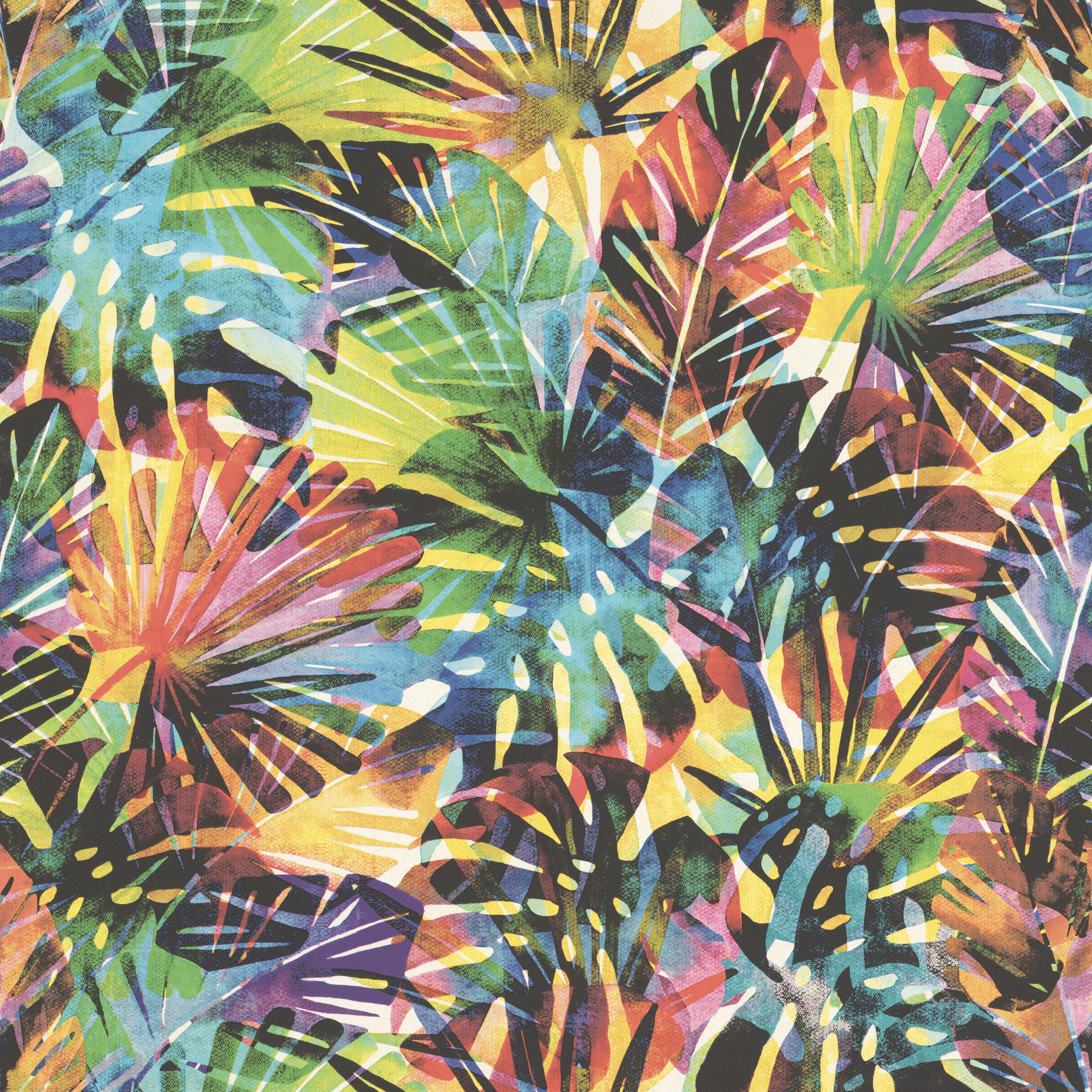 Színes pálma mintás gyerek tapéta