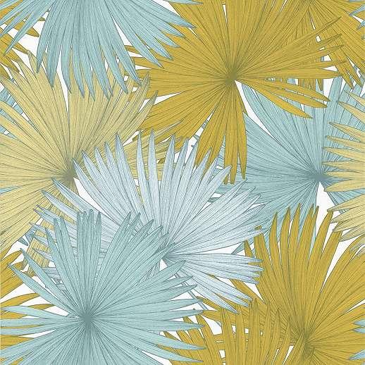 Színes pálmalevél mintás tapéta