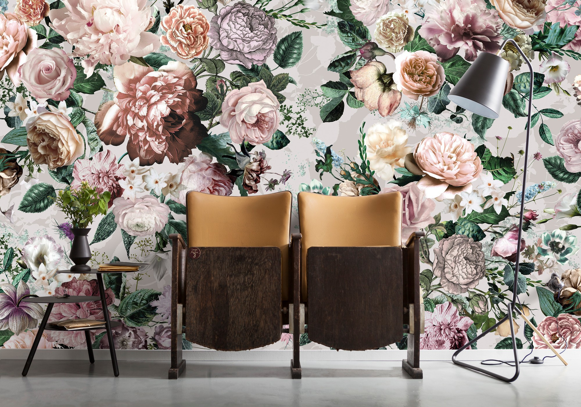 Színes romantikus virágcsokor mintás fali poszter