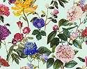Színes romantikus virágmintás vlies tapéta