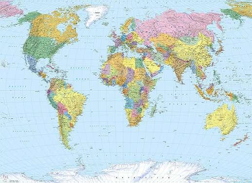 Színes világtérkép fali poszter