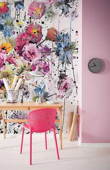 Színes virágmintás modern fali poszter