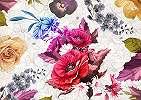 Színes virágmintás óriás fali poszter