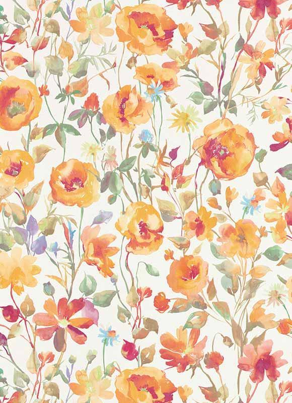 Színes virágmintás tapéta