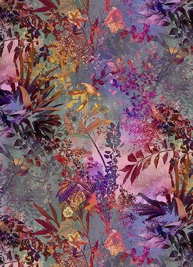 Színes virágok fali poszter