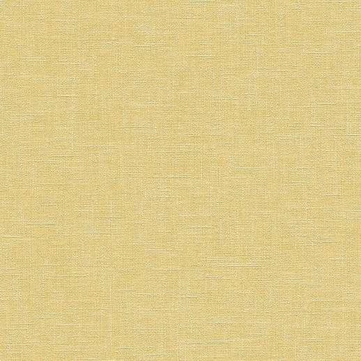 Szőtt hatású egyszínű sárga vlies tapéta