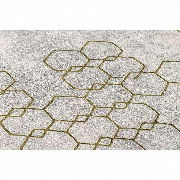 Szürke arany modern geometrikus mintás vinyl tapéta