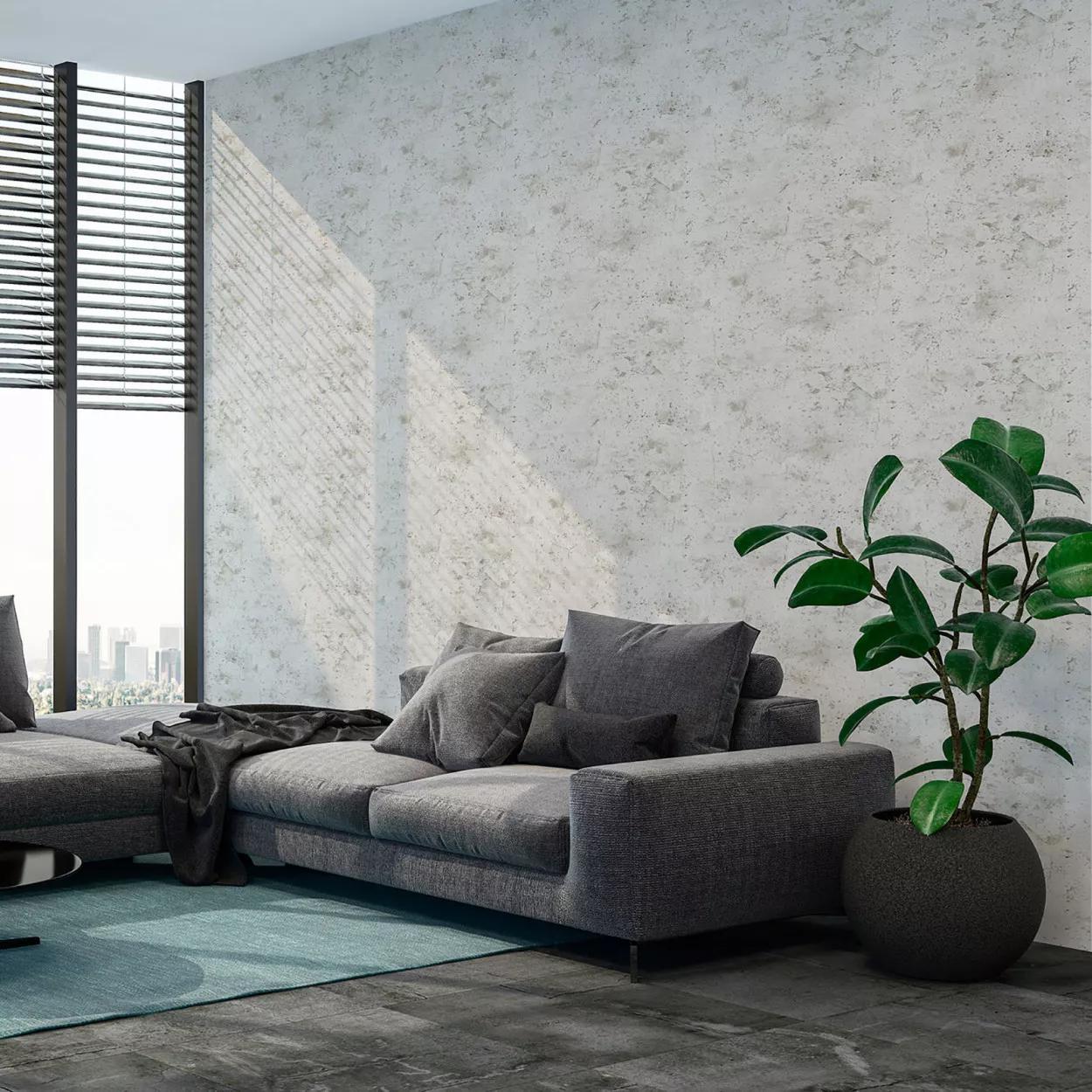 Szürke betonhatású mosható felületű dekor tapéta