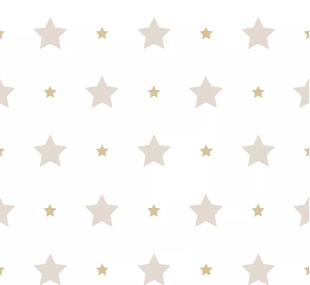 Szürke csillag mintás gyerektapéta
