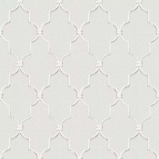 Szürke-fehér barokk mintás vlies tapéta