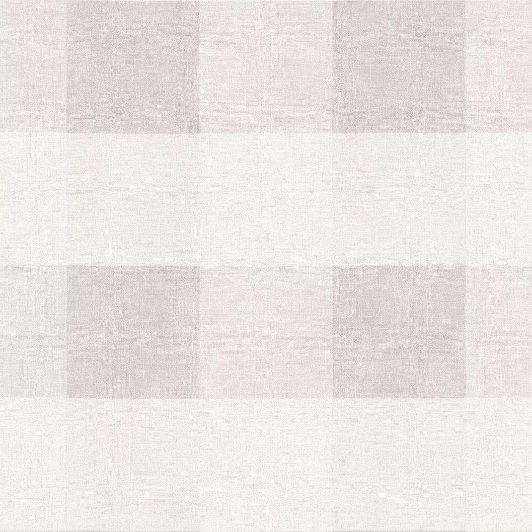 Szürke-fehér kockás mintás vlies tapéta