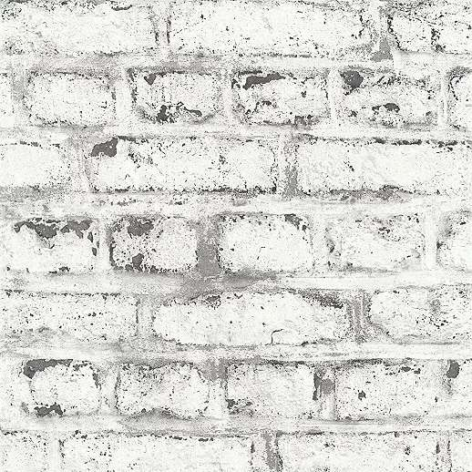 Szürke fehér téglamintás vlies vinyl tapéta