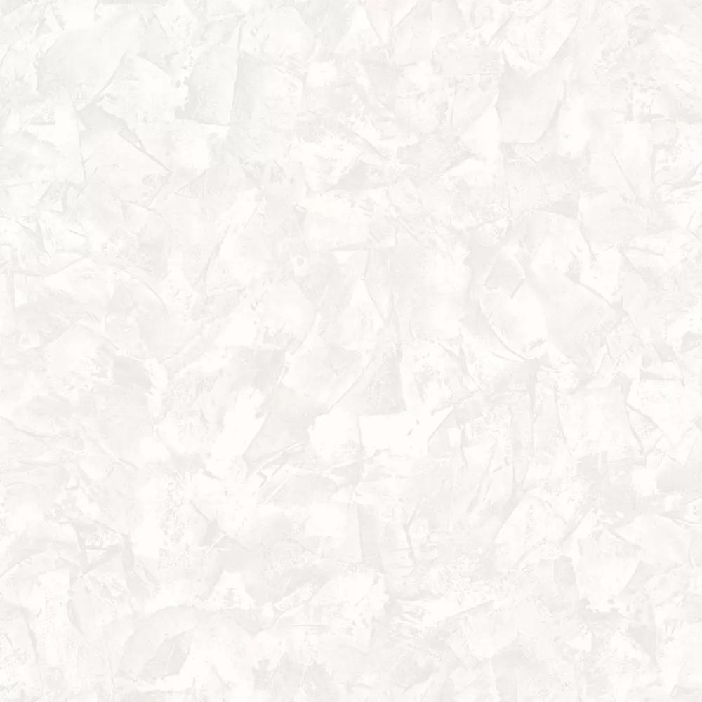 Szürke-fehér vlies tapéta geometrikus mintával