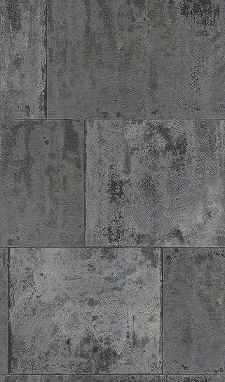 Szürke, fekete betonfal hatású loft tapéta