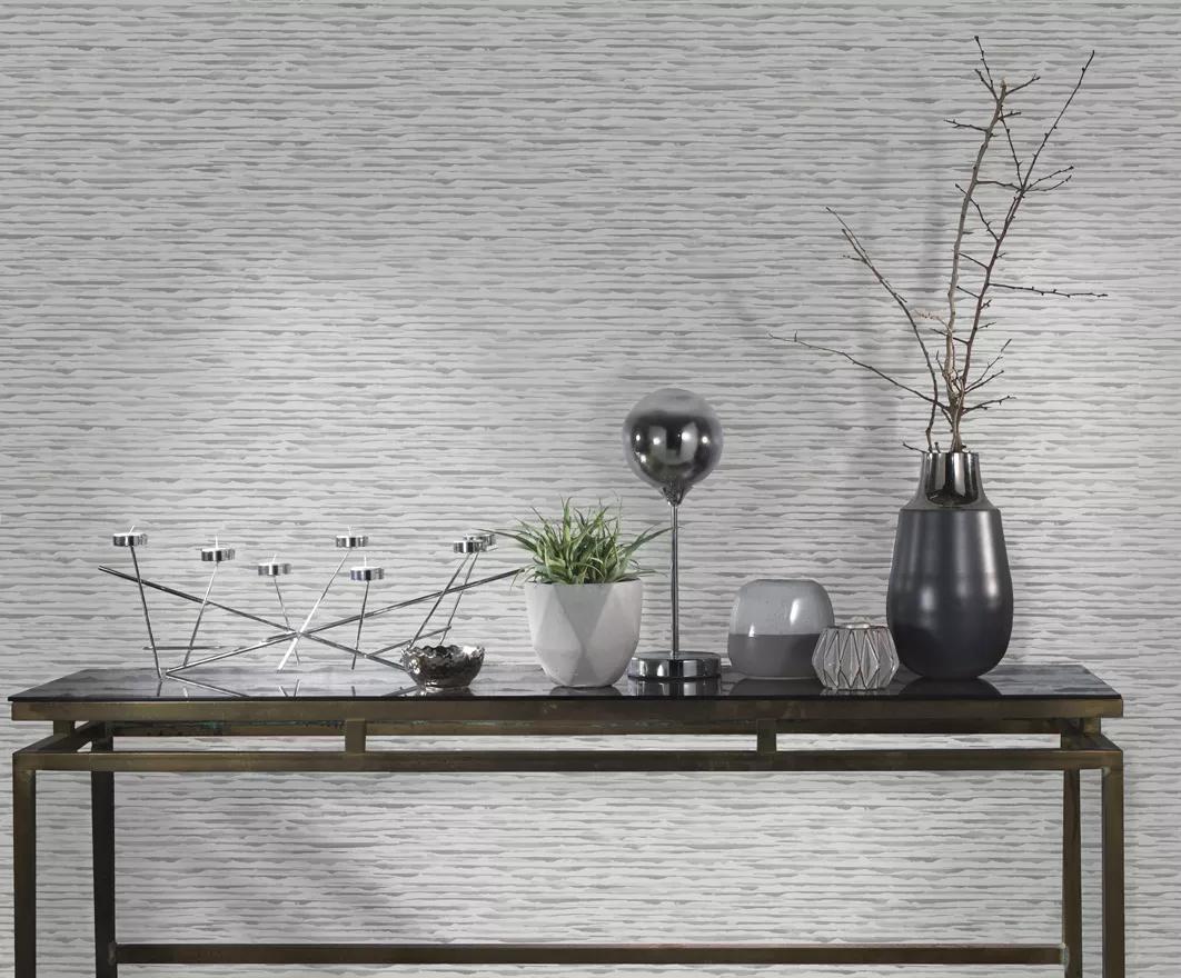 Szürke festett hatású modern csíkos mintás design tapéta