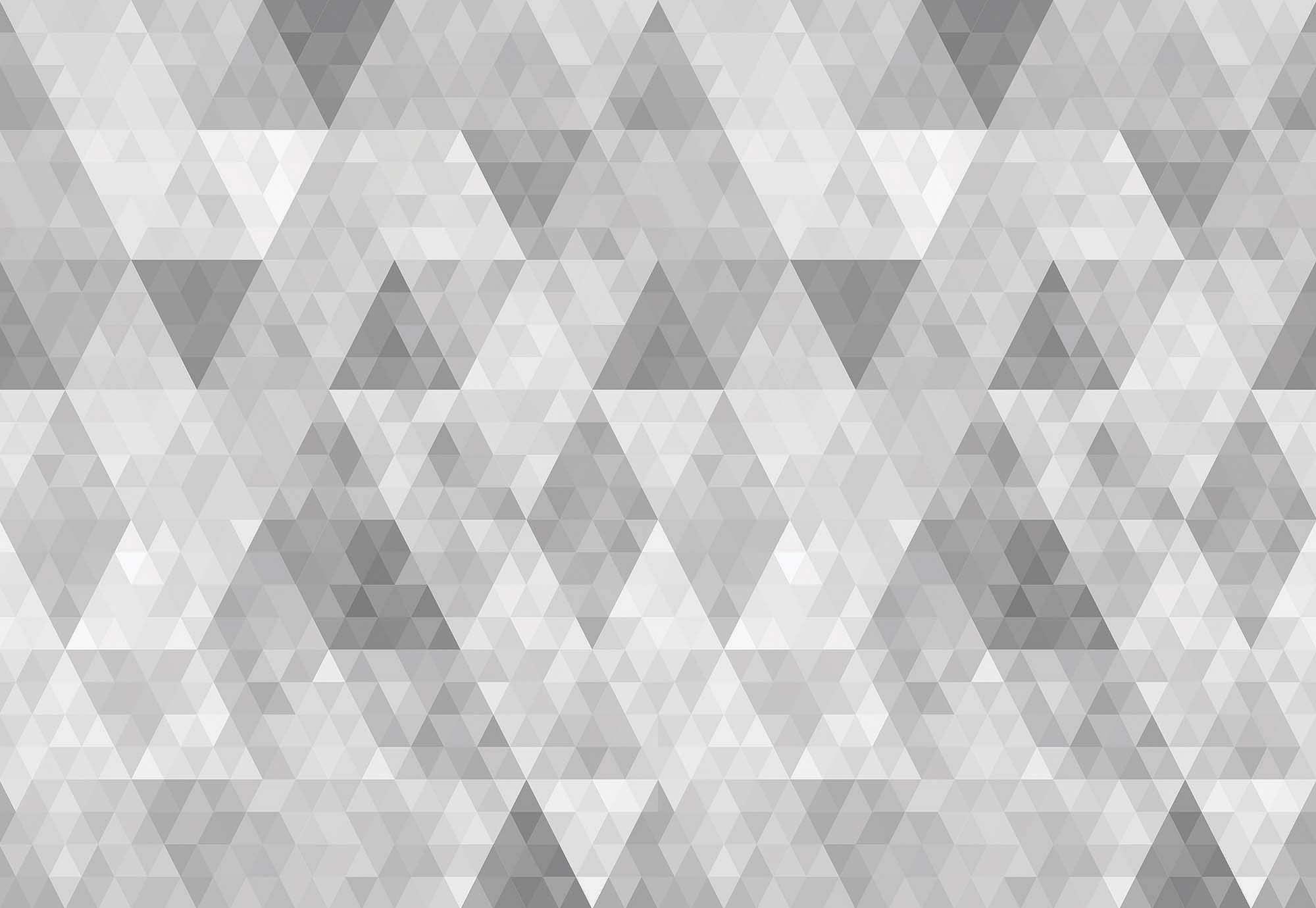 Szürke geometriai mintás fali poszter