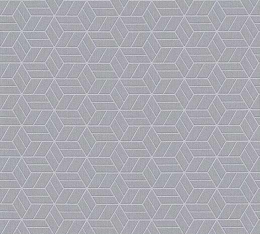 Szürke geometriai mintás modern tapéta habosított felülettel