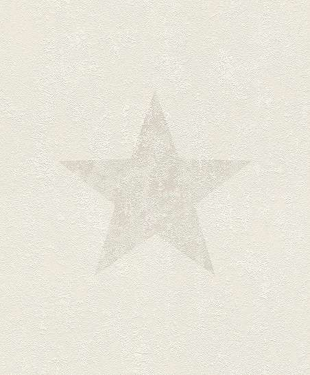 Szürke-krém csillag mintás vlies tapéta