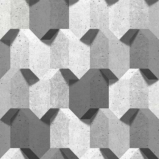 Szürke modern 3D betonhatású vlies dekor tapéta