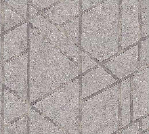 Szürke modern geometriai mintás vlies tapéta