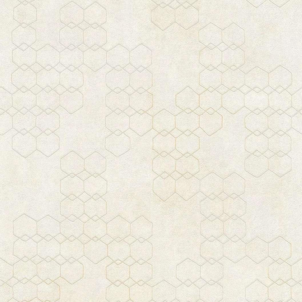 Szürke modern geometrikus mintás vlies vinyl tapéta