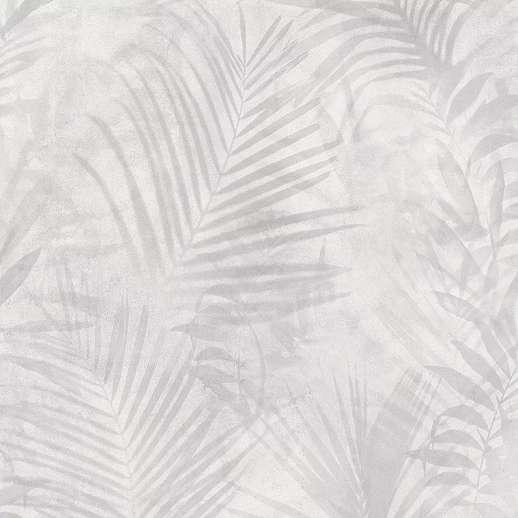 Szürke pálmalevél mintás vlies vinyl tapéta