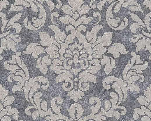 Szürke színű klasszikus barokk mintás vlies tapéta