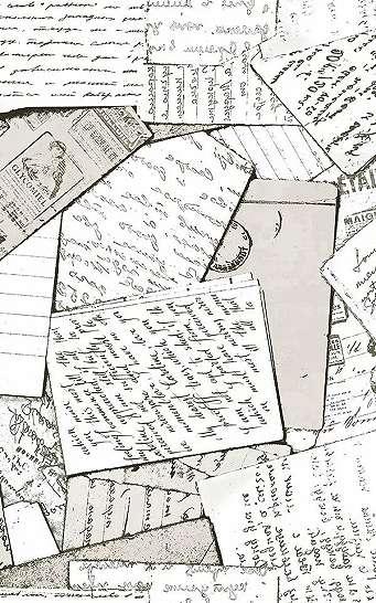 Szürke vintage boríték, levél mintás vlies dekor tapéta