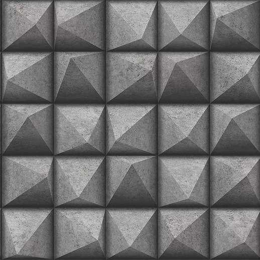 Szürke vlies vinyl 3D betonhatású modern dekor tapéta