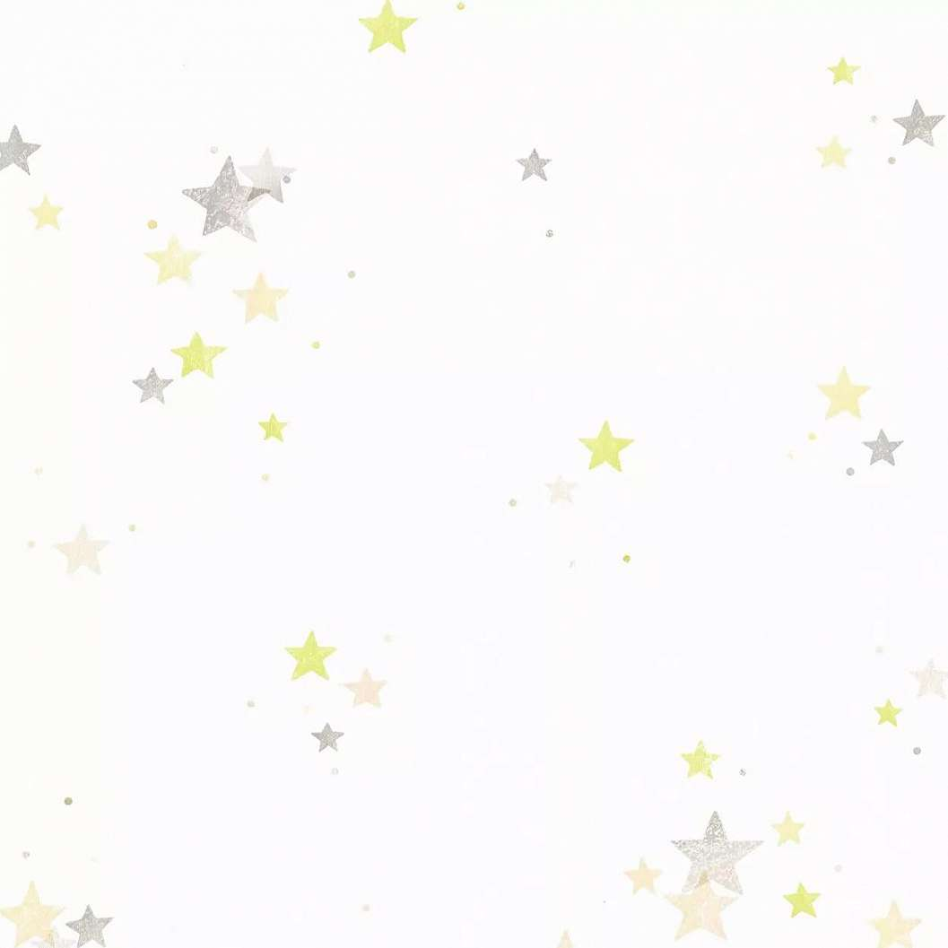 Szürke zöld csillag mintás papír gyerek tapéta