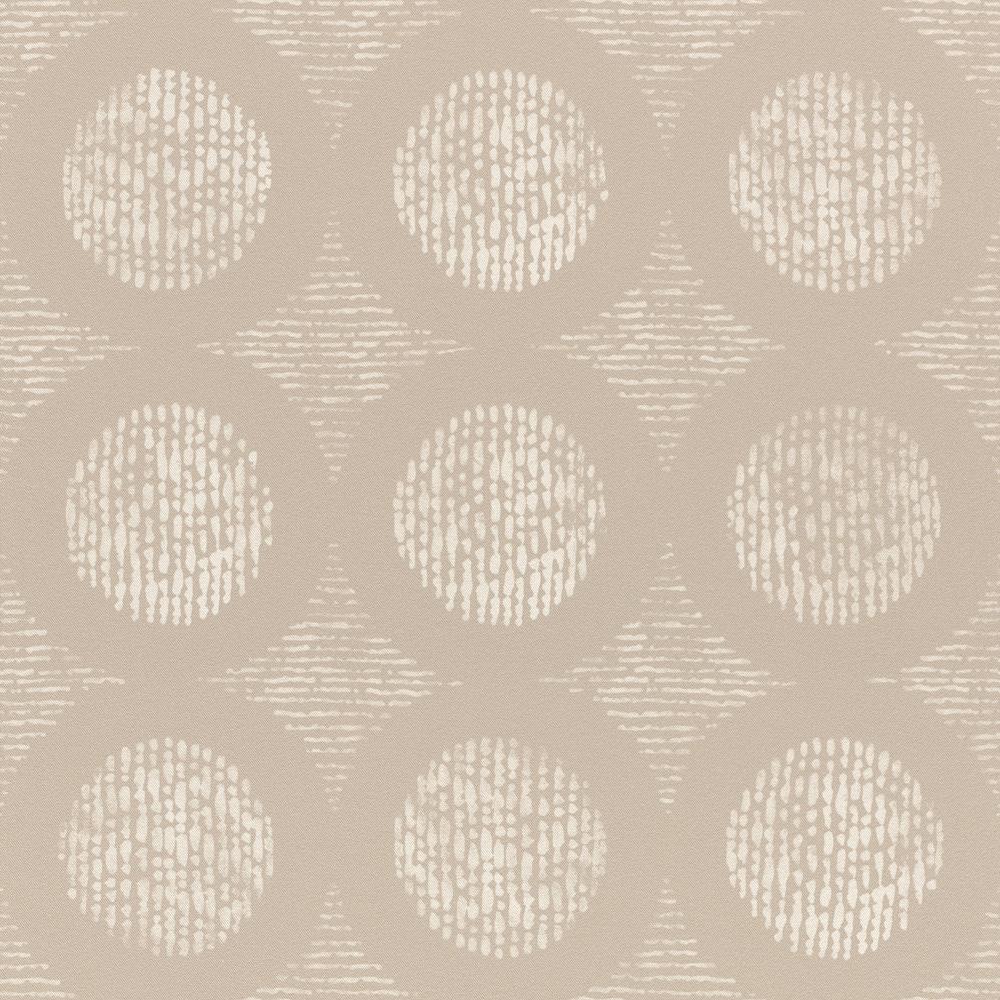 Szürkés barna design korongok mintás tapéta