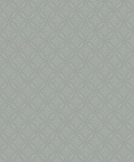 Szürkéskék alapon arany geometrikus pöttyös mintás vlies dekor tapéta