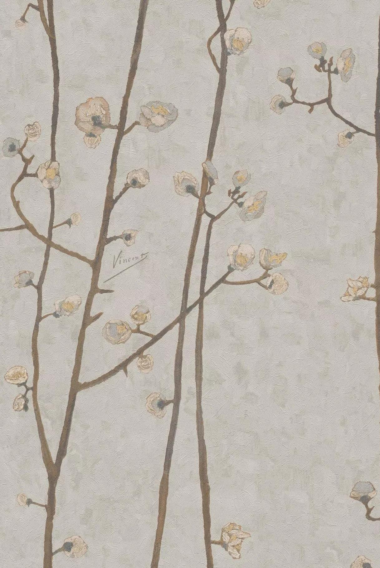 Tapéa Van Gogh festménye alapján szürke színvilágban