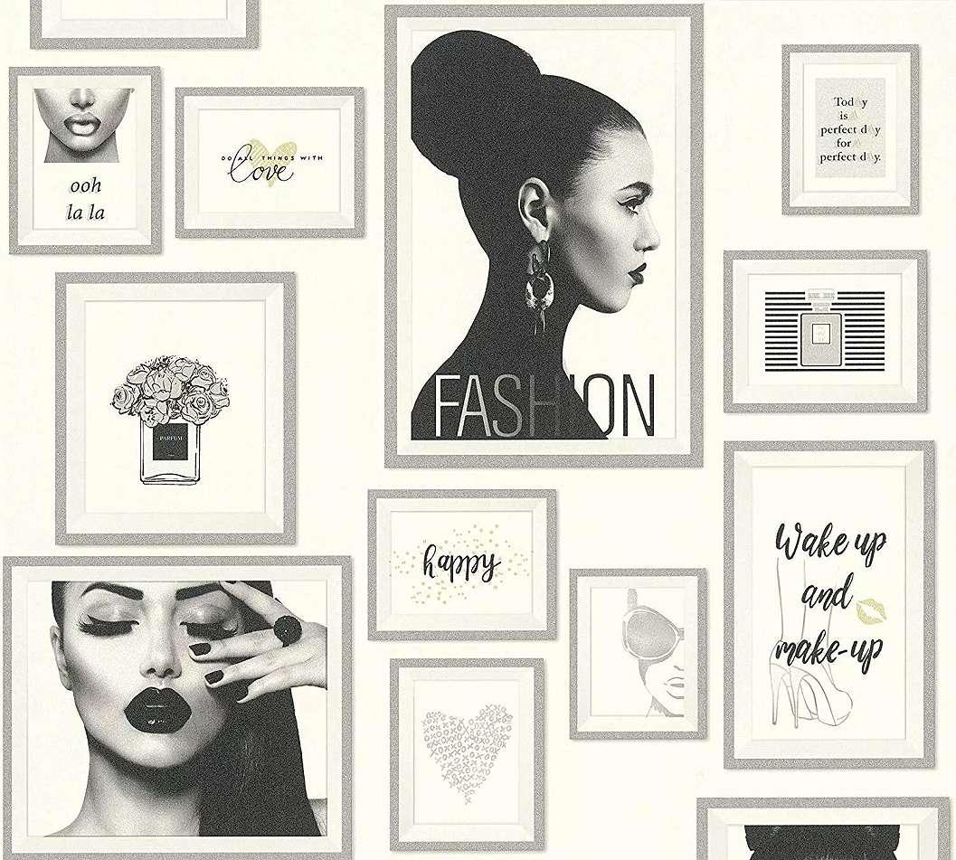 Tapéta a divat szerelmeseinek modern glamouros enteriőrbe