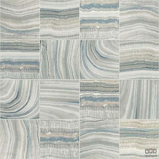 Tapéta csempe minta alapon márvány hatással kékes alapszínben