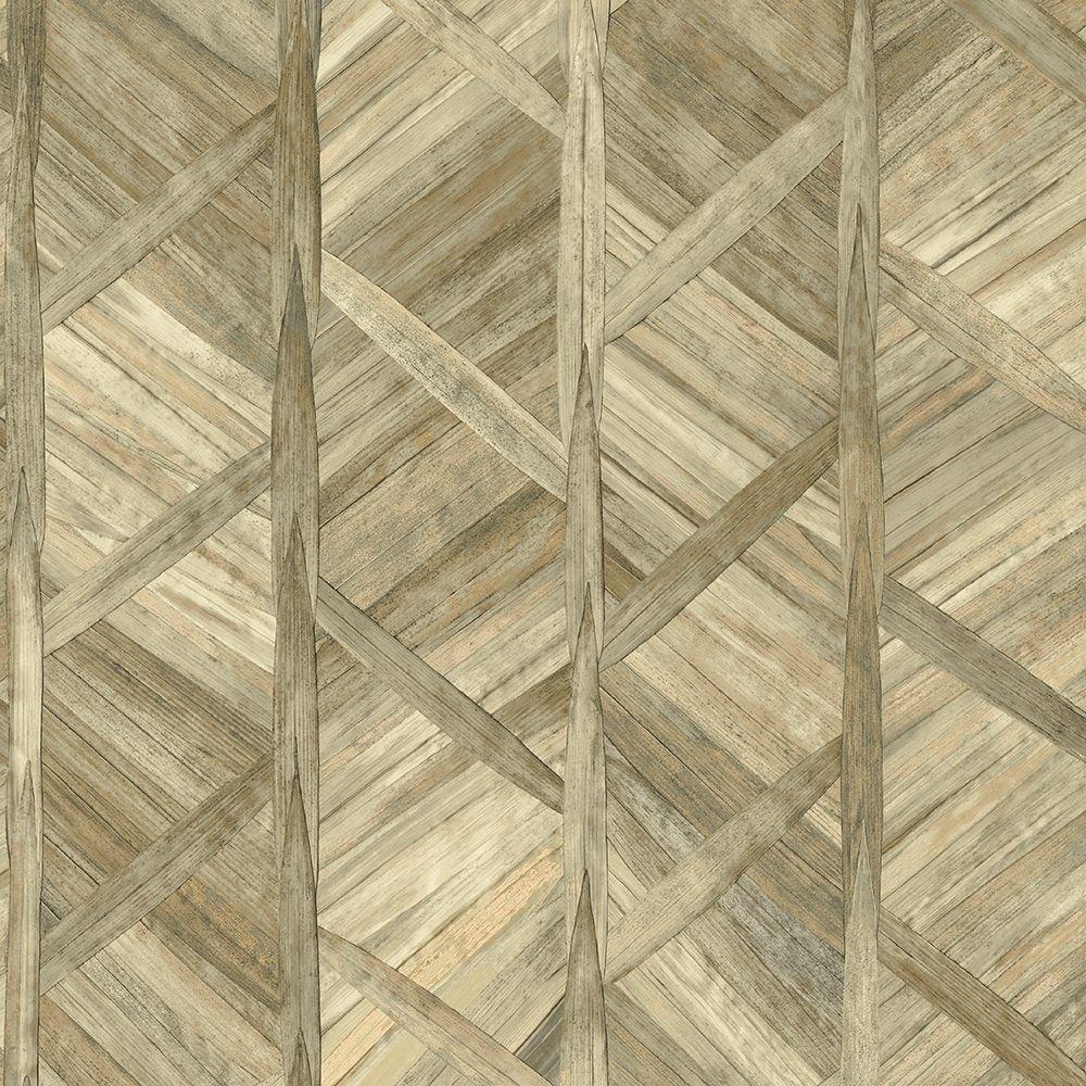 Tapéta fahatású mintával barna színvilágban